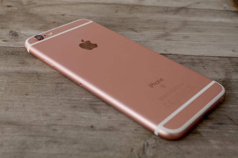 Apple iPhone 6s - muotoilu, takakansi