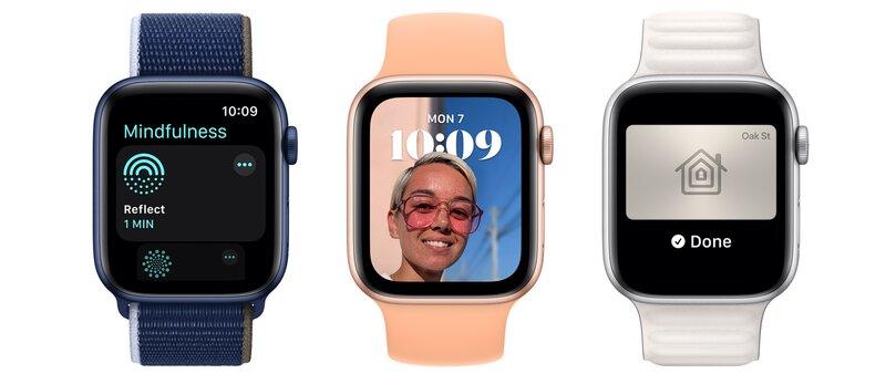 watchOS 8:n ominaisuuksia kellojen näytöillä