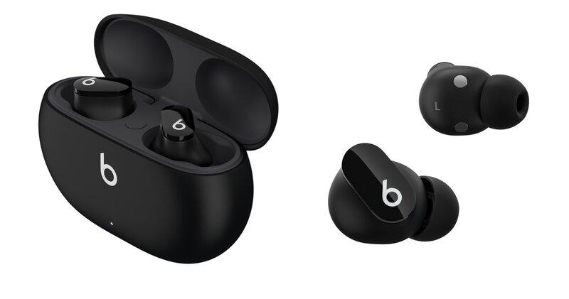 Beats Studio Buds kuulokkeet ja kotelo mustassa värissä