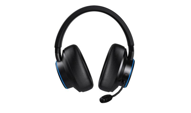 Creative sxfi air gamer kuulokkeet kuvattuna edestä mikfonin kanssa