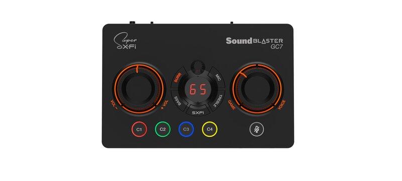 Sound Blaster GC7 DACin painikkeet