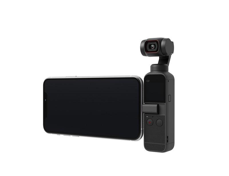 Pocket 2 kamera puhelimen kanssa