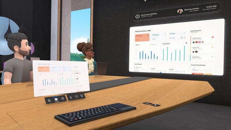 käyttäjän tietokone ja näppäimistö tuotuna virtuaaliseen kokoustilaan