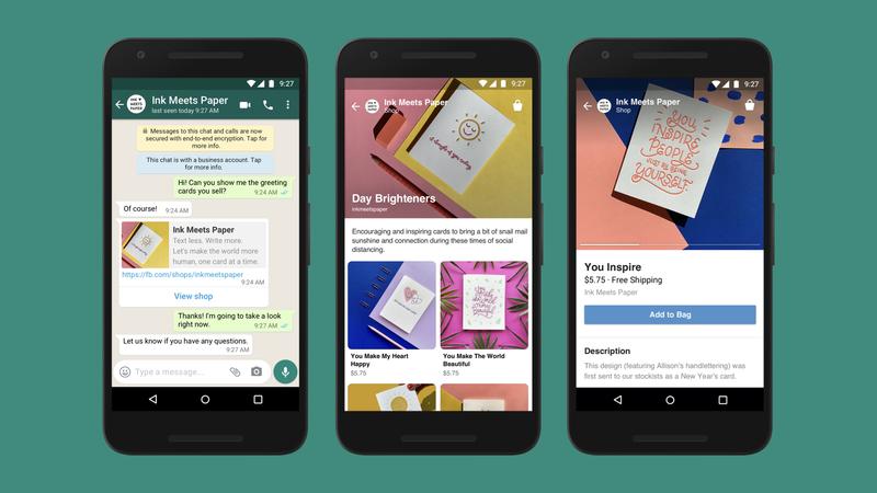 Apua Facebook Shops asiakkaat saavat vaikkapa Whatsappin välityksellä