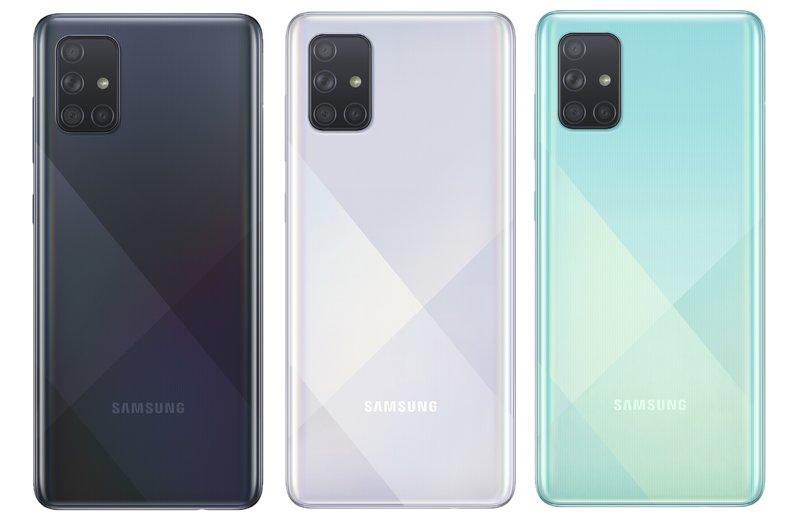 Galaxy A71 on myynnissä kolmessa värissä