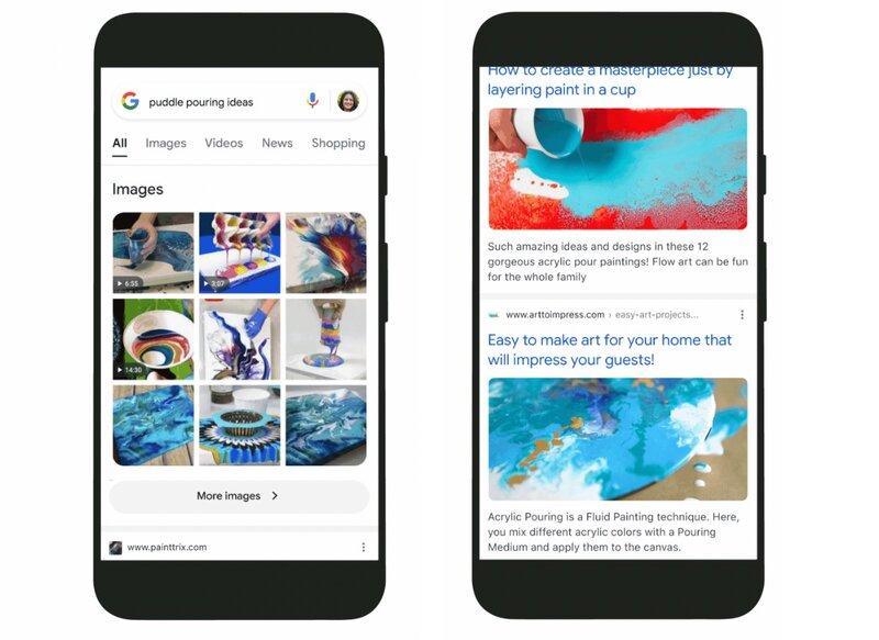 Uudet visuaaliset hakutulokset googlessa