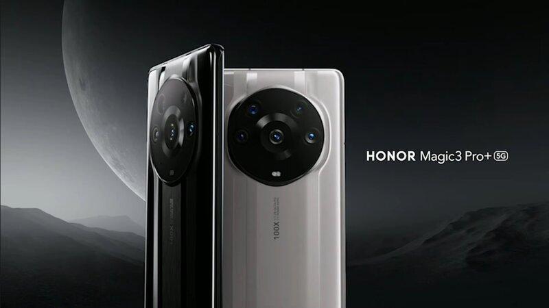 Honor Magic 3 Pro+ takaa kahdessa eri värissä