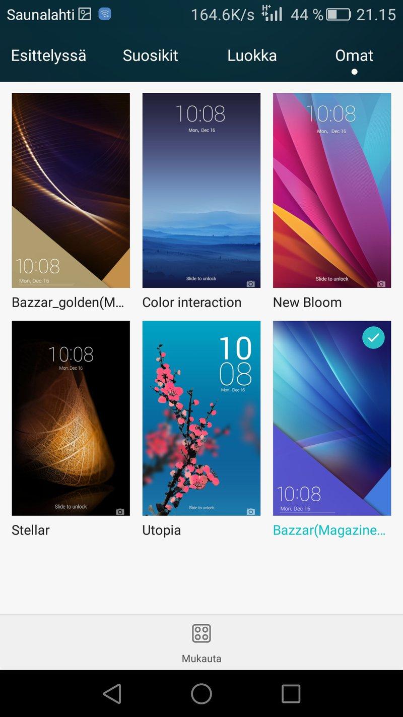 Huawei Honor 7 - käyttöliittymä