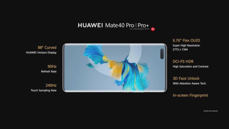 Huawein Mate 40 Pro ja Pro+ kameran tiedot
