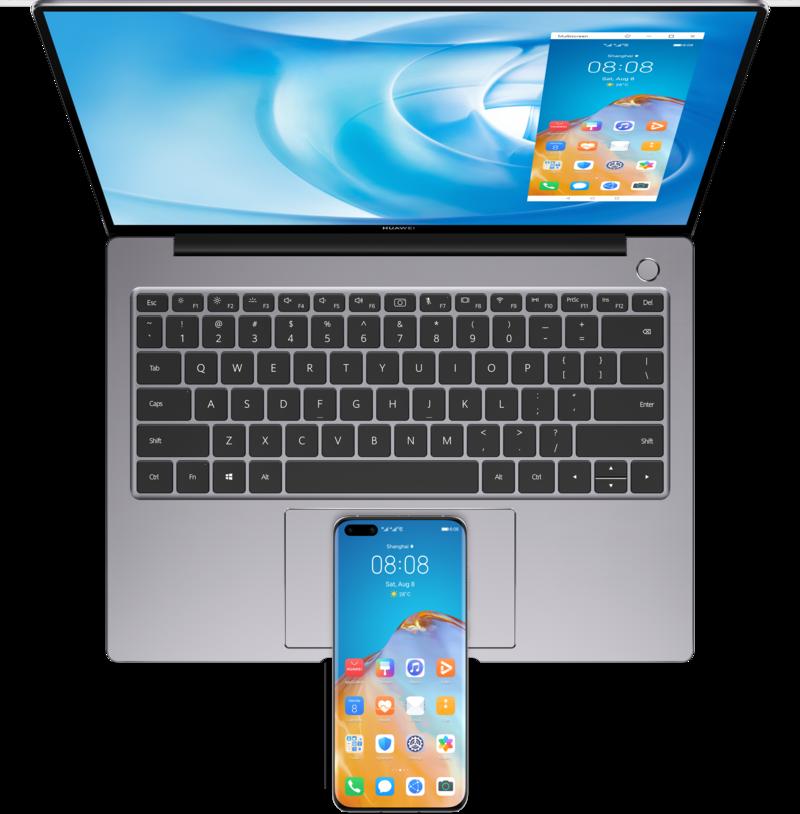 Huawei Share toiminto MateBook 14 amd 2020 kannettavassa