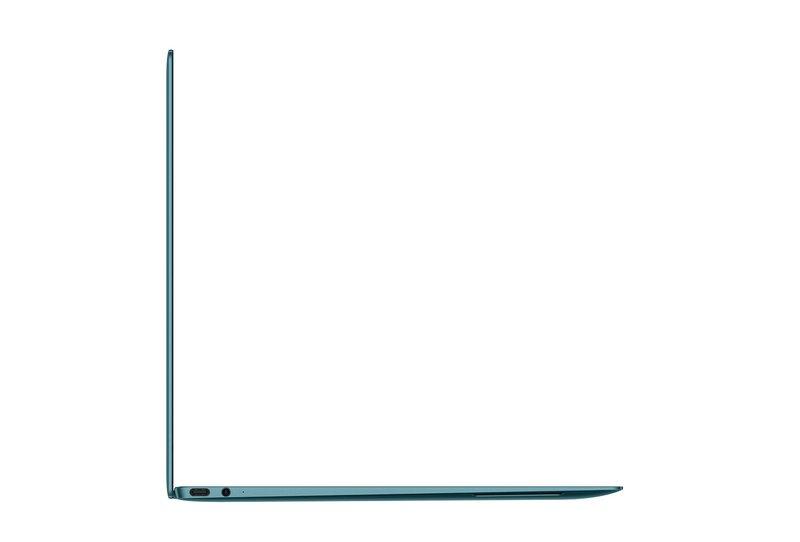 MateBook X:n portin kuvattuna metsänvihreässä värissä