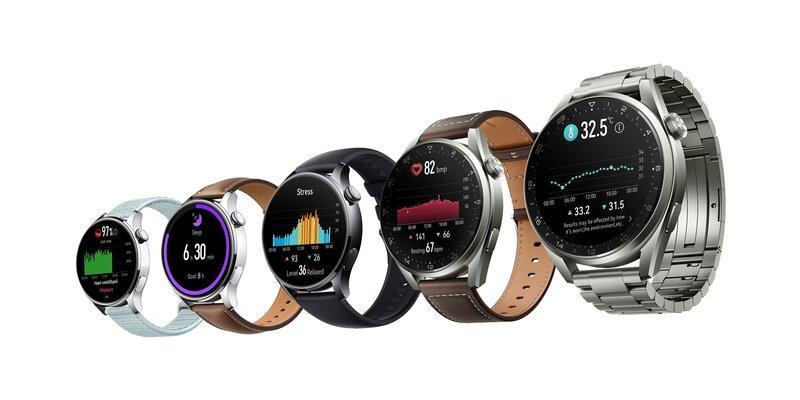 Huawei Watch 3 älykellot esillä eri vaihtoehtoina