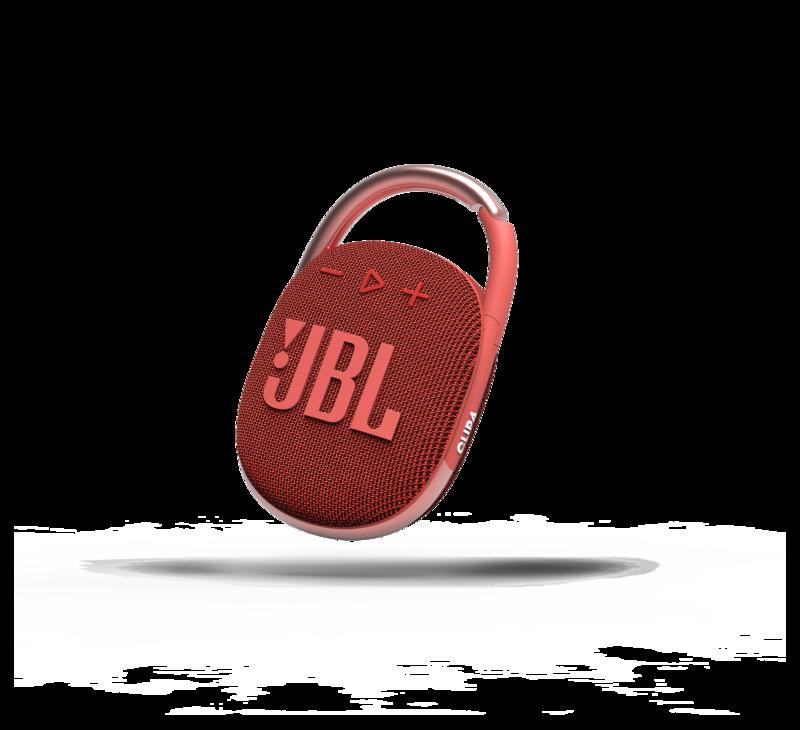 JBL Clip 4 punaisessa värissä