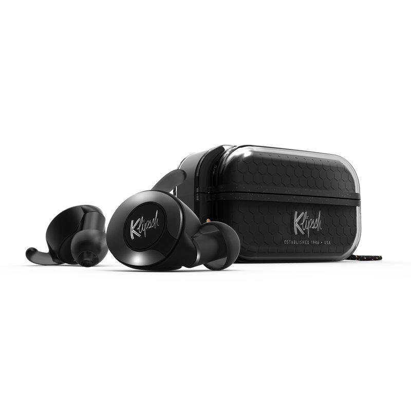 KlipschT5 II True Wireless Sport kuulokkeet mustassa värissä