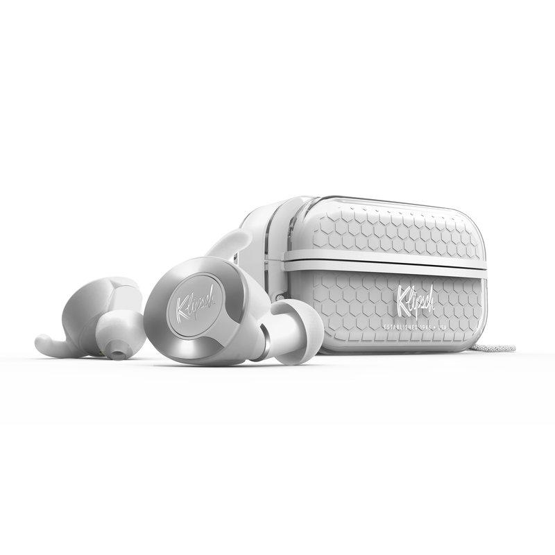 KlipschT5 II True Wireless Sport kuulokkeet valkoisessa värissä border=