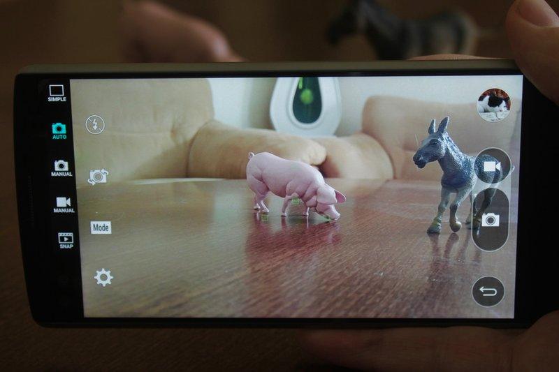 LG V10 - kameranäyttö