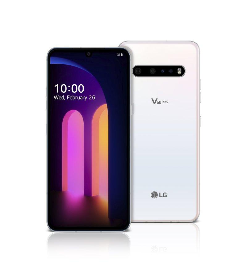LG V60 ThinQ 5G edestä ja takaa