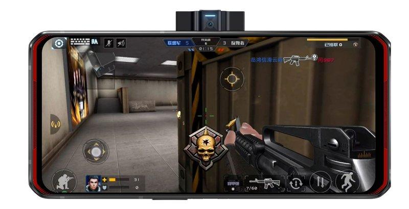 Legion Phone Duelin etukamera nousee esille laitten kyljestä