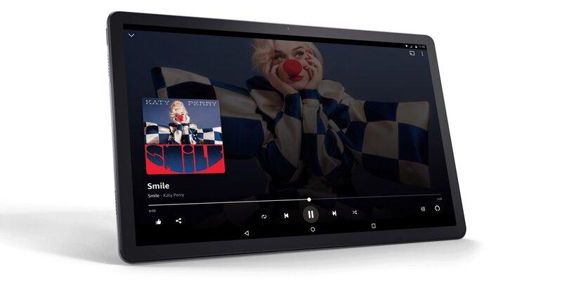 tab p11 plus tabletti toistamassa musiikkia amazon music palvelusta