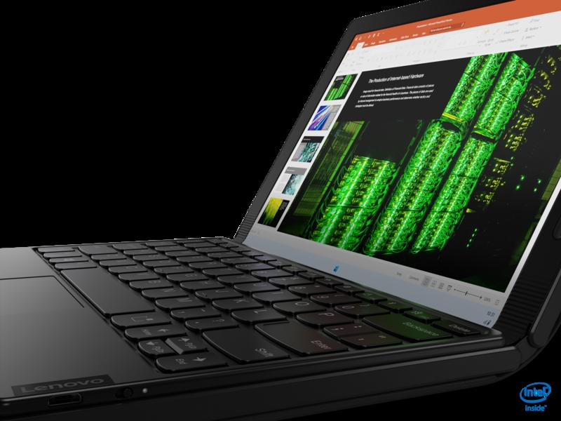 Lenovo on suunnitellut X1 Foldin ohjelmiston hyödyntämään pientä bluetooth näppäimistöä