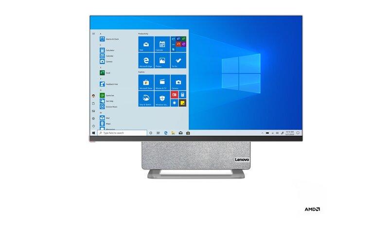 Yoga AIO 7 tietokone edestä