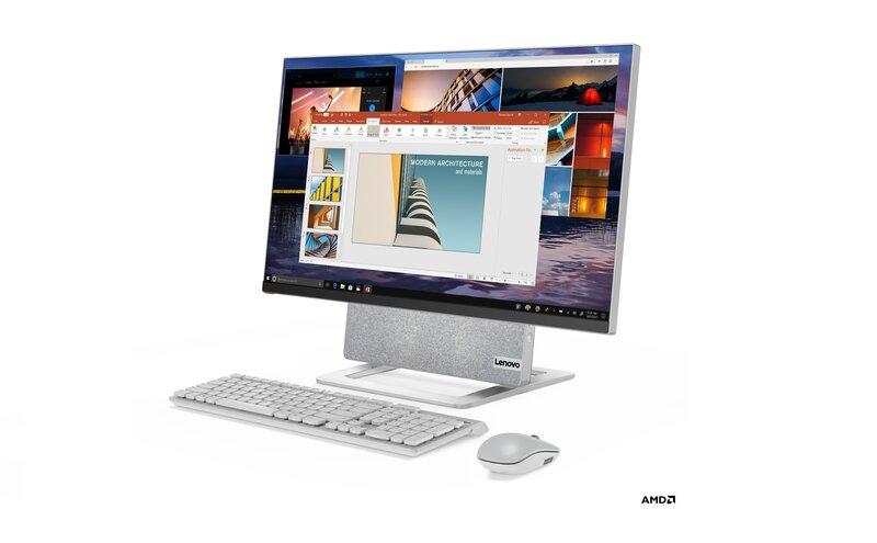 Yoga AIO 7 tietokone näppäimistön ja hiiren kanssa