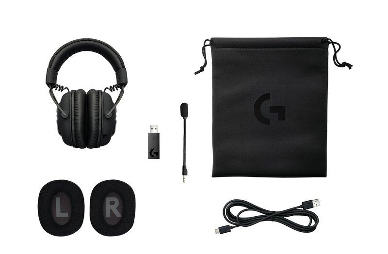 G Pro X Wireless kuulokkeiden pakkauksen sisältö