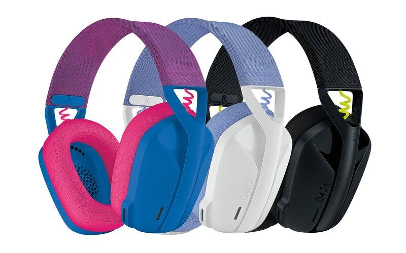 G435 pelikuulokkeet kolmessa eri värivaihtoehdossa