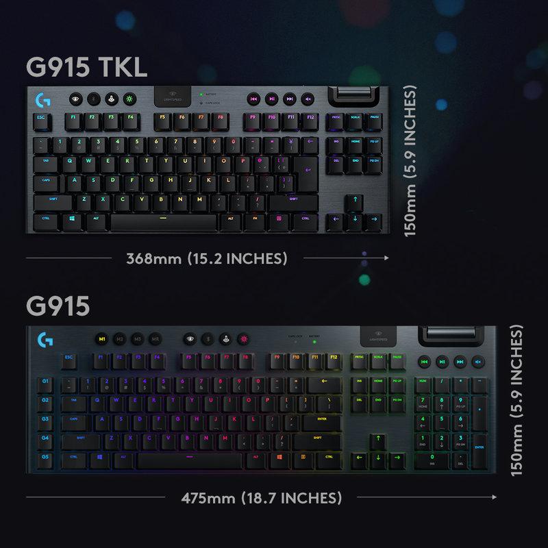 G915 TKL ja täysikokoinen G915
