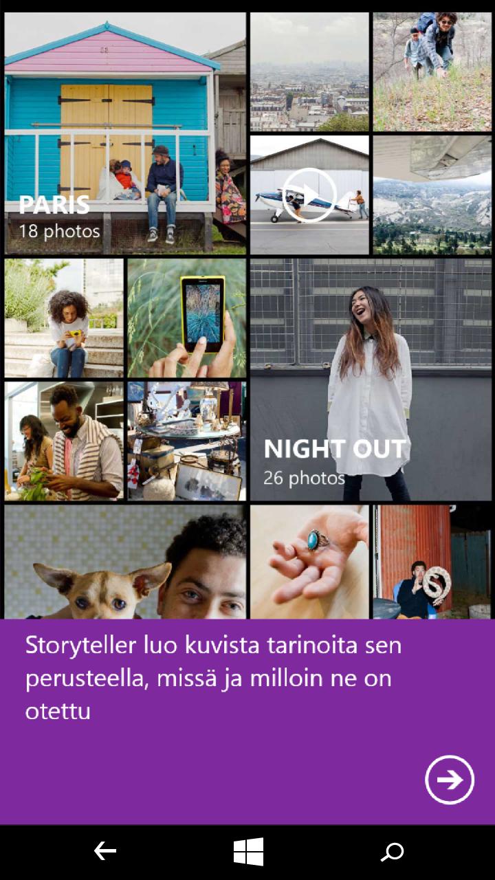 Microsoft Lumia 640 XL - käyttöliittymä