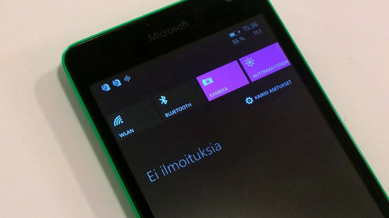 Testissä Lumia 535 - kamera
