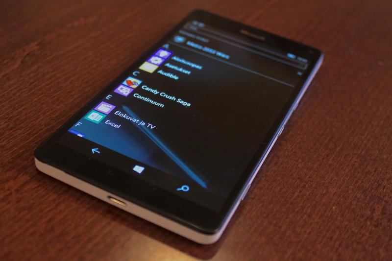 Microsoft Lumia 950 XL - Sovellusvalikko