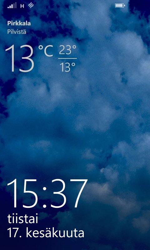 Lumia 630 käyttöliittymä