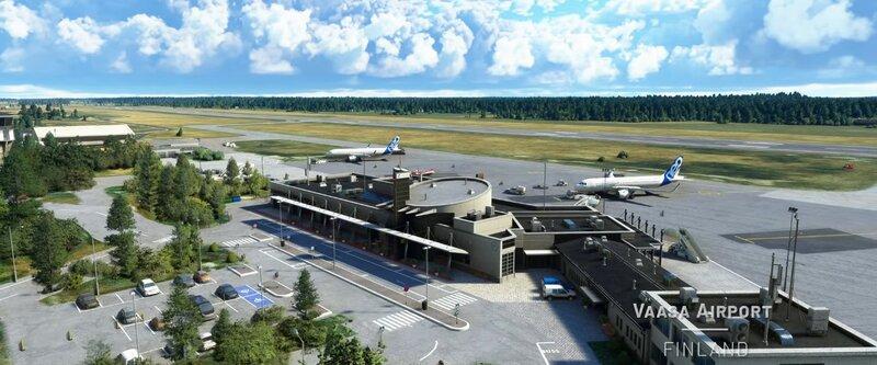 Vaasan lentokenttä Microsoft Flight Simulator pelissä