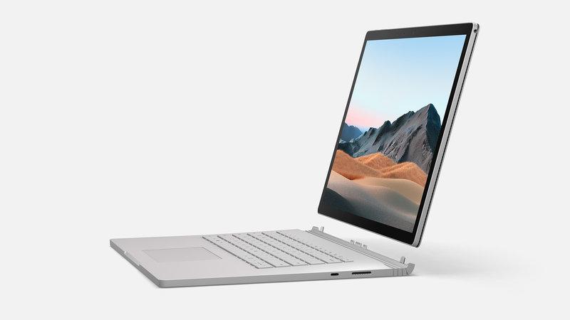 Surface Book 3 näytön voi irrottaa näppäimistöstä