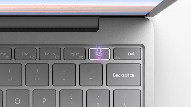 Surface Gon sormenjälkilukija virtapainikkeessa