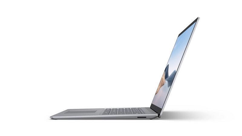 Surface Laptop 4 kuvattuna sivulta