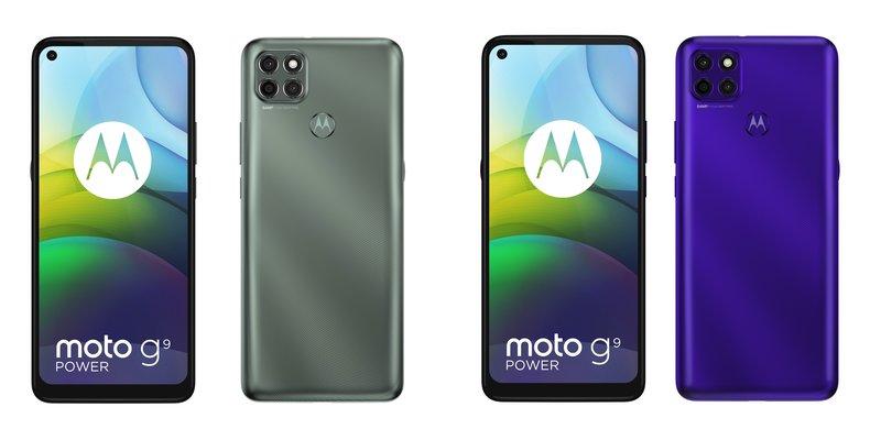 Motorola Moto G9 powerin värivaihtoehdot