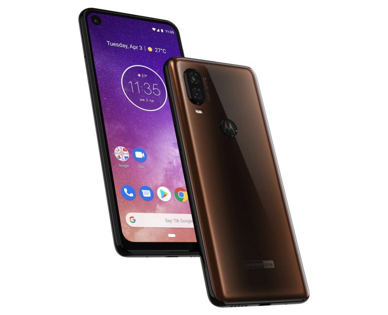 Motorola One Visionissa on kaksi kameraa takana