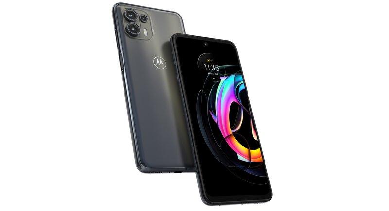 Motorola edge 20 lite edestä ja takaa