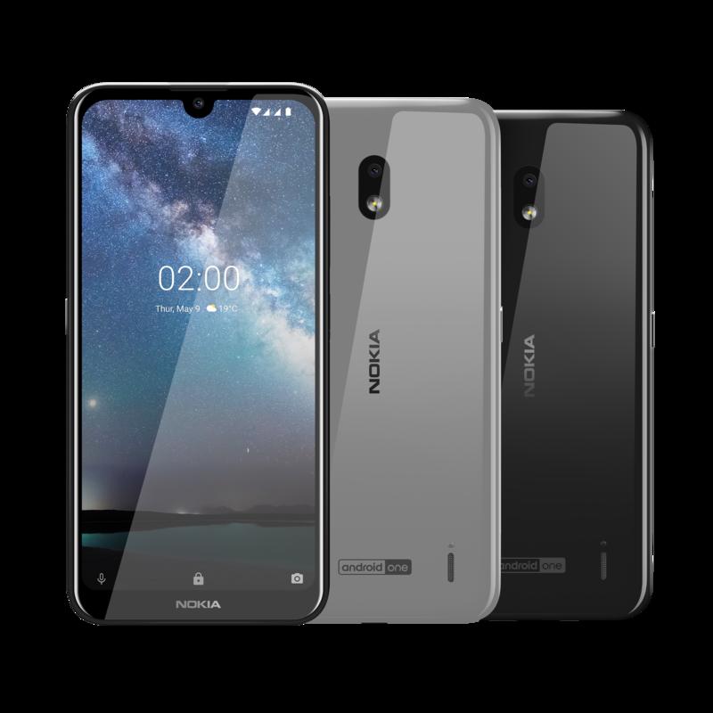 Nokia 2.2 yksi kamera takana ja edessä