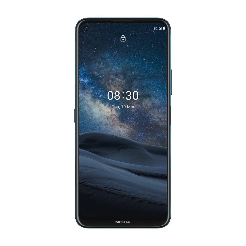 Nokia 8.3 5G:n edessä on iso näyttö