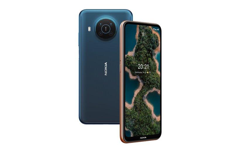 Nokia X20 edestä ja takaa