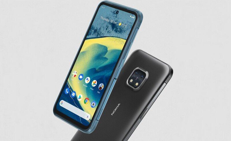 Nokia XR20 puhelin näyttö käynnissä