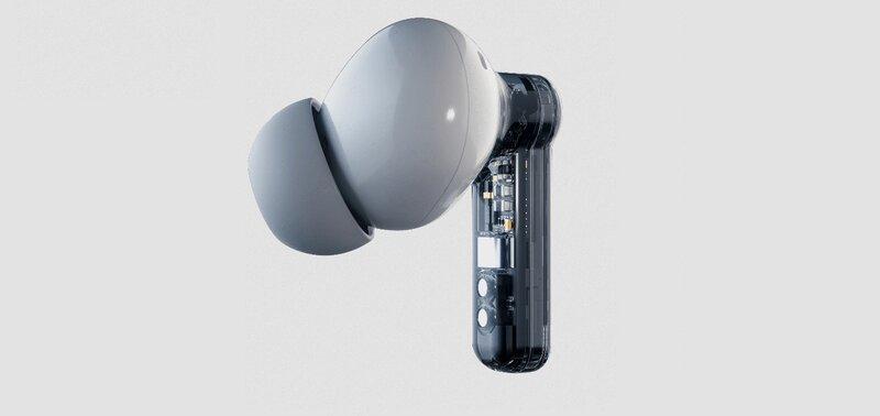 nothing ear 1 kuulokkeet ovat läpinäkyvät