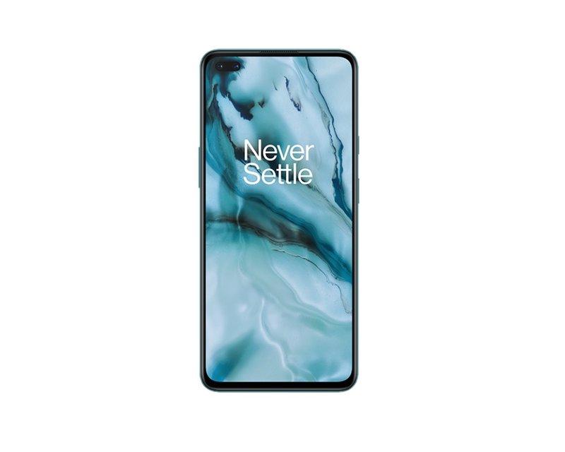 OnePlus Nord puhelin edestä