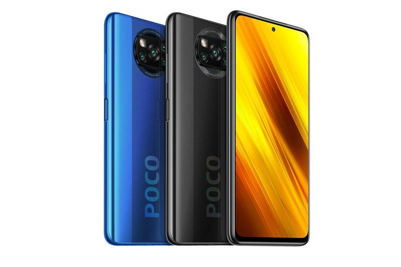 Poco X3 NFC edestä ja takaa