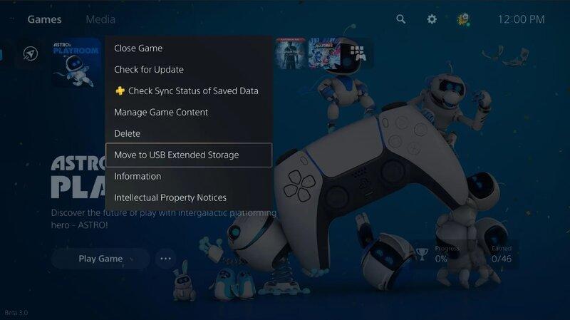 päivitys mahdollistaa pelien siirtämisen USB-laitteelle