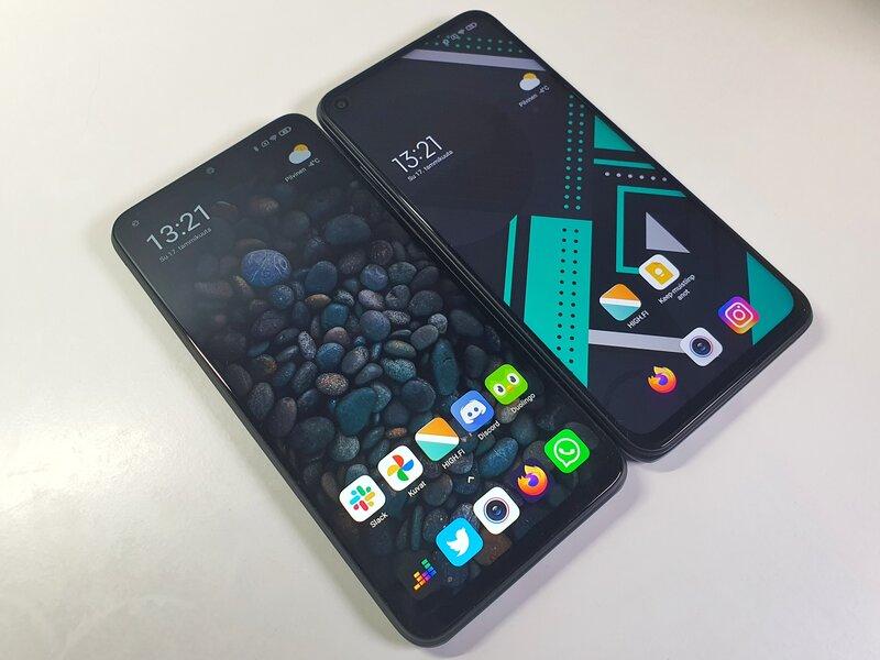 Poco M3 ja Redmi Note 9T käyttävät samankokoisia näyttöjä