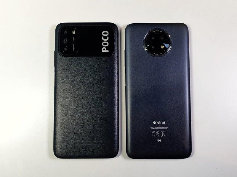 Poco M3 ja Redmi Note 9T:n muoviset takakannet